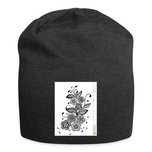 diseño de flores - Gorro holgado de tela de jersey