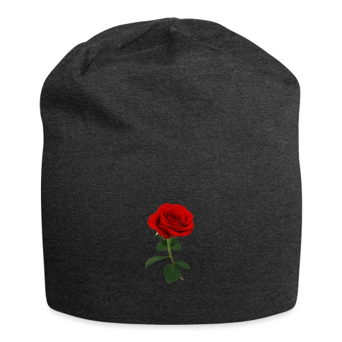 red rose - Gorro holgado de tela de jersey