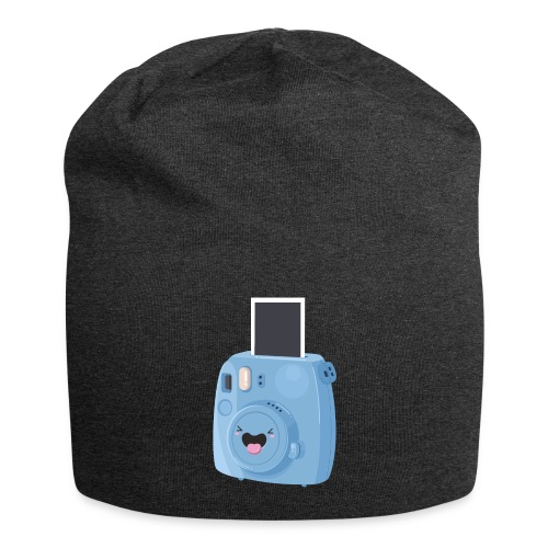 Appareil photo instantané bleu - Bonnet en jersey