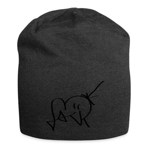 Jackjohannes Hemp signatuur 'Jack' zwart - Jersey-Beanie