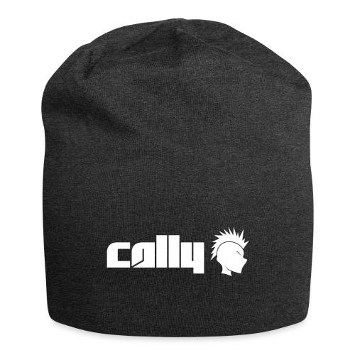 Cally White Logo - Jersey Beanie