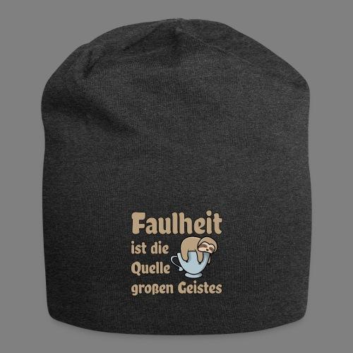 Faulheit - Jersey-Beanie