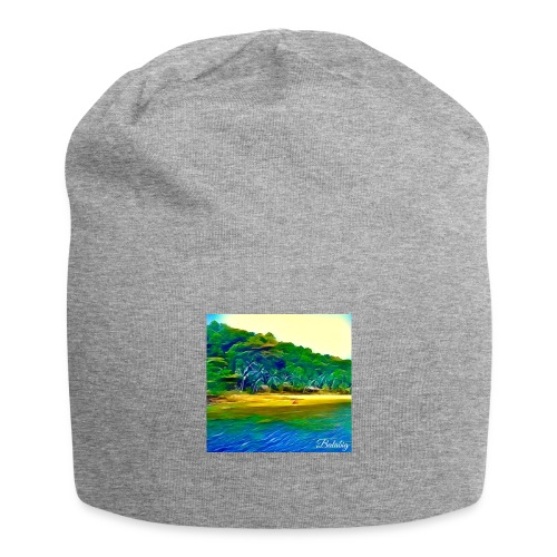 Tropical beach - Beanie in jersey