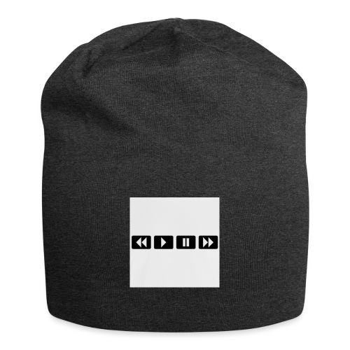 black-rewind-play-pause-forward-t-shirts_design - Jersey-Beanie