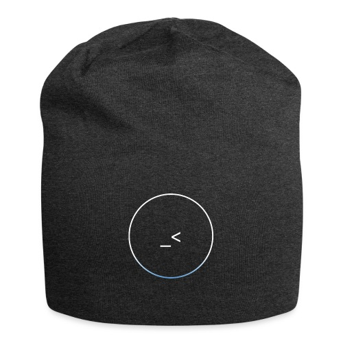 White and white-blue logo - Jersey Beanie