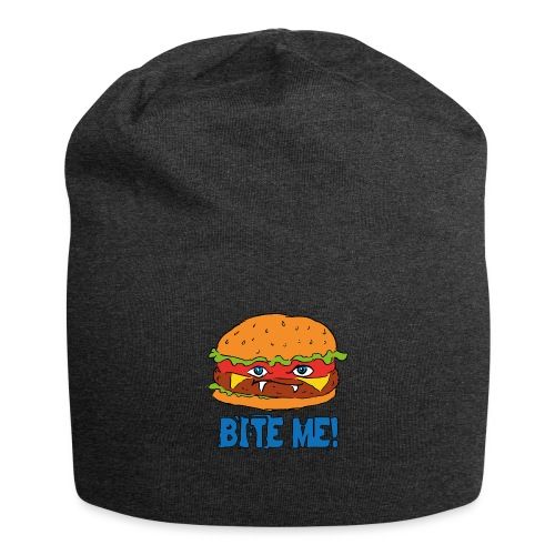 Bite me! - Beanie in jersey