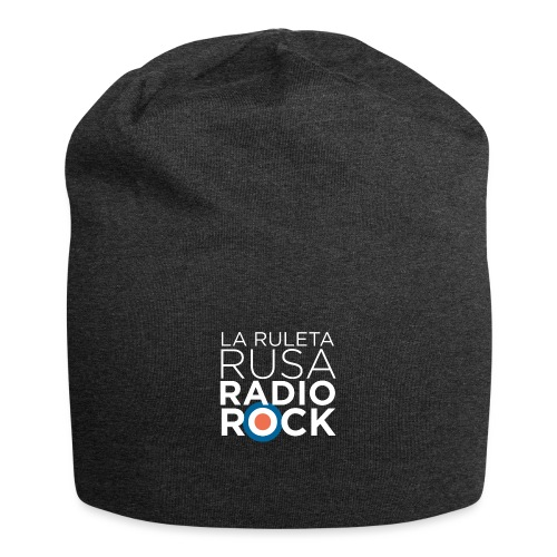 La Ruleta Rusa Radio Rock. Retrato blanco - Gorro holgado de tela de jersey