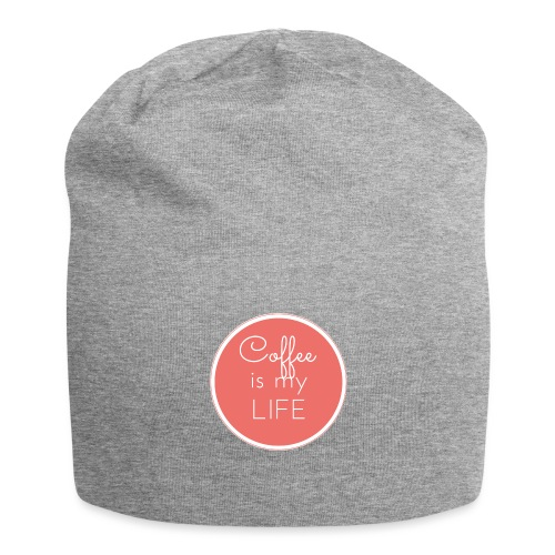 Coffee is my life - Gorro holgado de tela de jersey