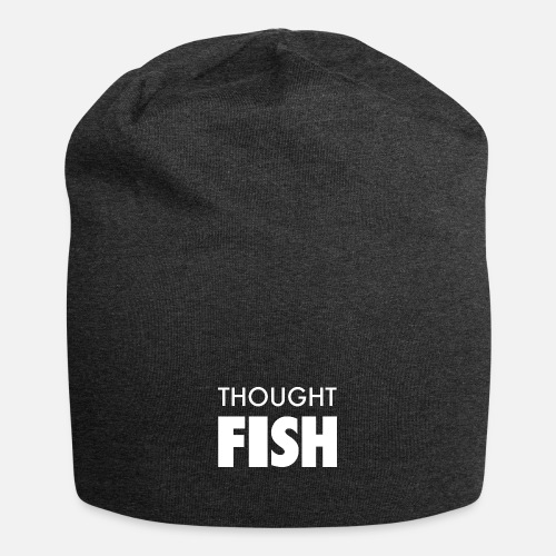 Thoughtfish font logo - Jersey Beanie