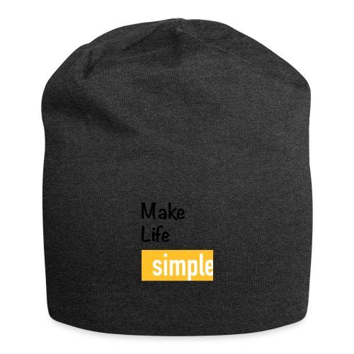 Make Life Simple - Bonnet en jersey