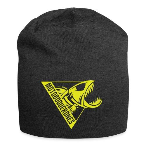 Logo Motoboquerones amarillo - Gorro holgado de tela de jersey