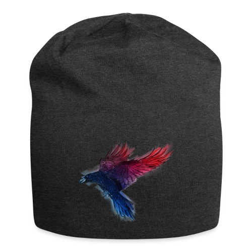 Watercolor Raven - Jersey-Beanie