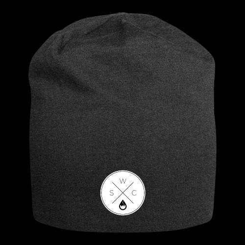 WSC Hipster-Logo rund weiß - Jersey-Beanie