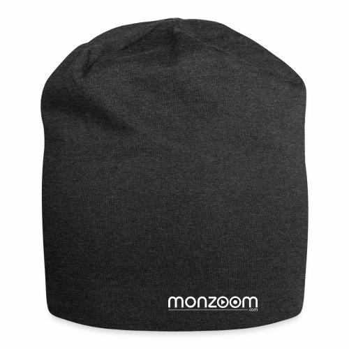 monzoom com logo white - Jersey Beanie