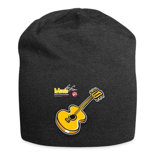 MusicForFun - dunkler Hintergrund - Jersey-Beanie
