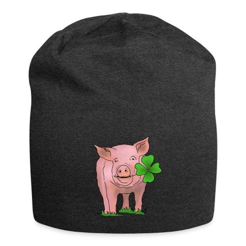 Glücksschwein - Jersey-Beanie