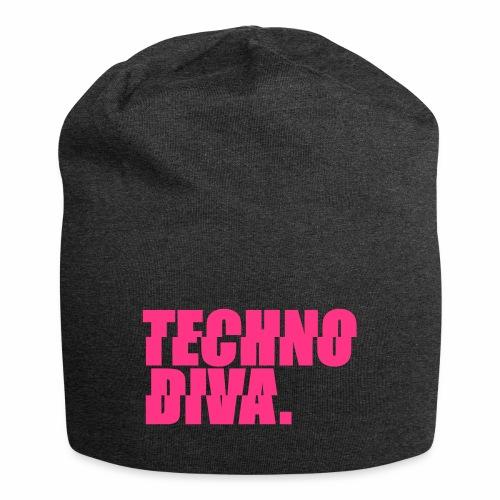 Techno DlVA Rave Princess Hard Techno Kind Music - Jersey-Beanie