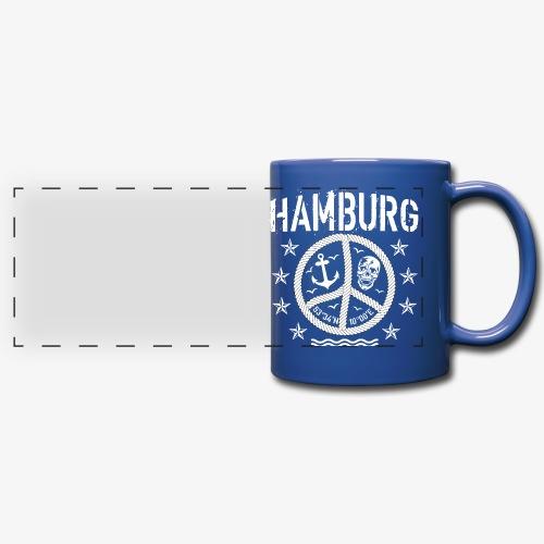105 Hamburg Peace Anker Seil Koordinaten - Panoramatasse farbig