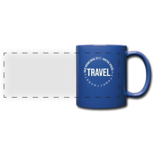 Reisen Weltreise Travelshirt Sprachen - Panoramatasse farbig