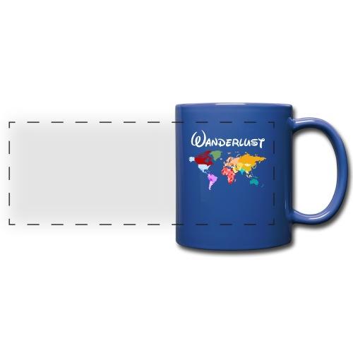 Reisen Weltreise Travelshirt Erde - Panoramatasse farbig