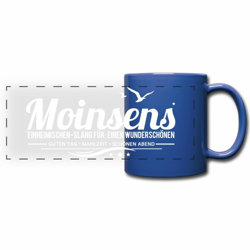 MOINSENS - Einheimischen-Slang - Panoramatasse farbig