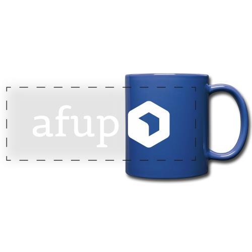 Le logo AFUP en blanc - Mug panoramique uni