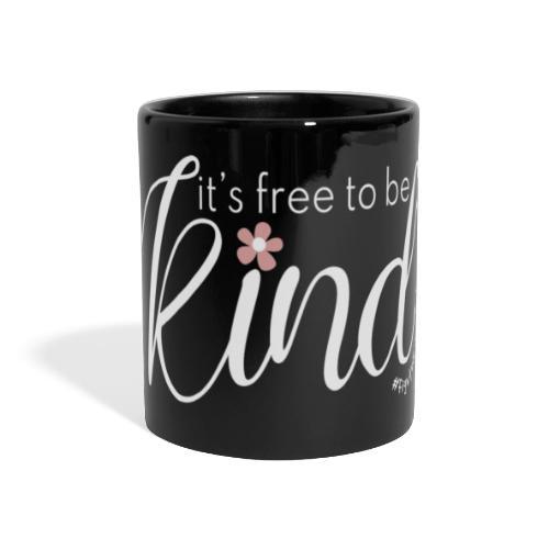 Amy's 'Free to be Kind' design (white txt) - Full Colour Panoramic Mug