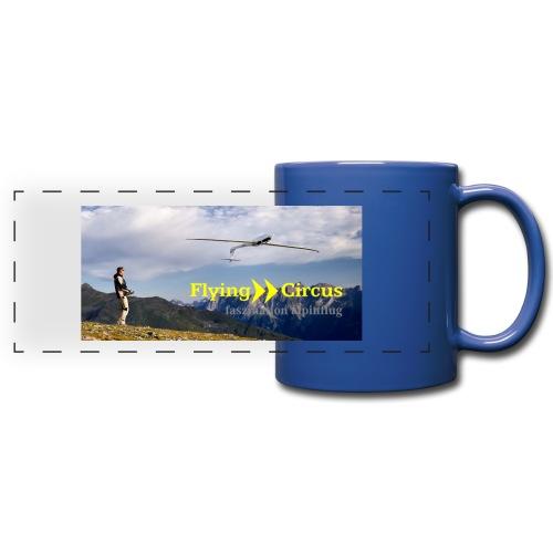 Die Tasse für den Berg der Flieger - Panoramatasse farbig