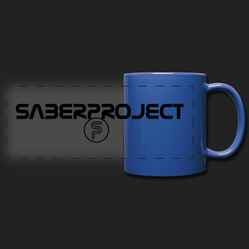 Saberproject Schriftzug - Panoramatasse farbig
