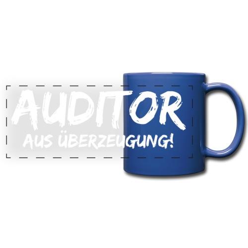 auditor aus überzeugung white - Panoramatasse farbig