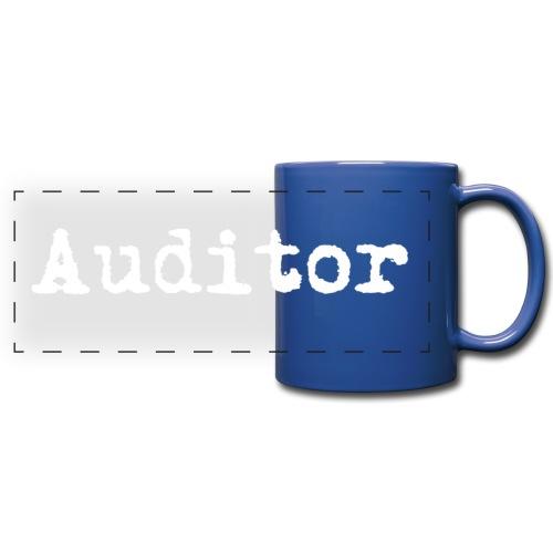 auditor typewriter white - Panoramatasse farbig
