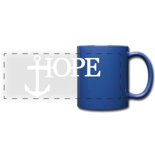 Hope Anker Anchor Hoffnung - Panoramatasse farbig