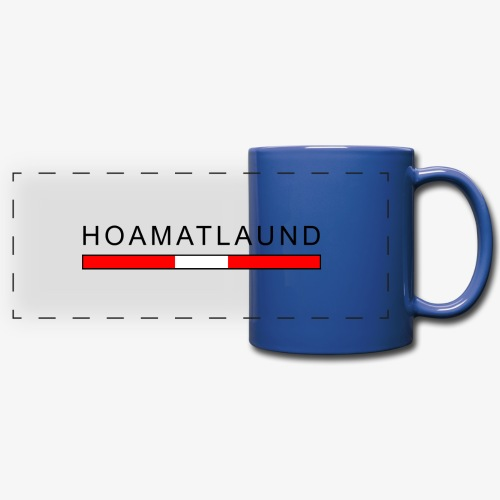 Hoamat mit österreich flagge - Panoramatasse farbig