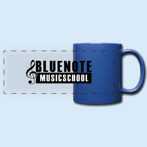 Bluenote Musicschool Logo Schwarz/Weiss - Panoramatasse farbig
