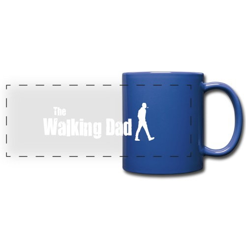 the walking dad white text on black - Full Color Panoramic Mug