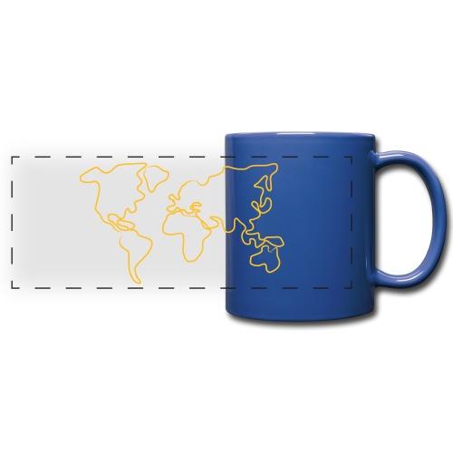 Wereldkaart - Panoramamok gekleurd