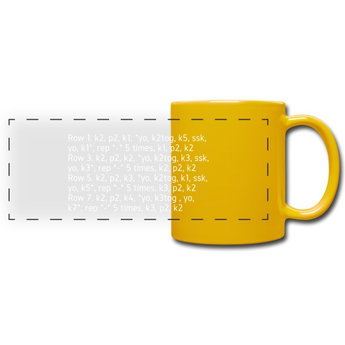 Knit Talk, light - Full Color Panoramic Mug