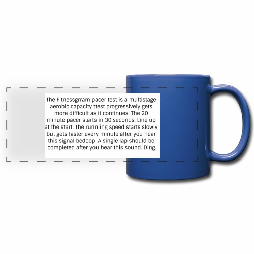 FitnessGram pacer Test - Full Colour Panoramic Mug