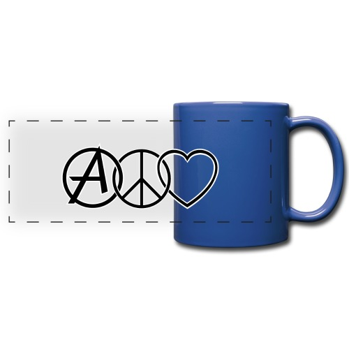 ANARCHY PEACE & LOVE - Full Color Panoramic Mug