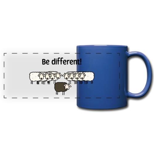 Be different - Panoramatasse farbig