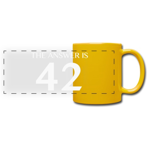 The Answer is 42 White - Full Color Panoramic Mug