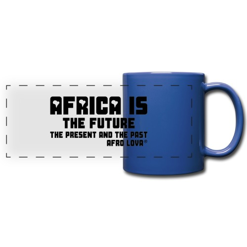 Africa is - Noir - Mug panoramique uni