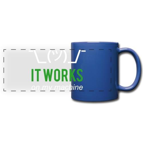 It works on my machine Funny Developer Design - Full Color Panoramic Mug