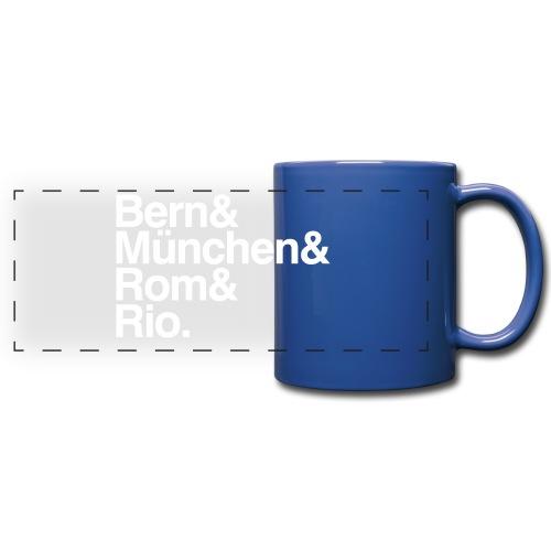 bern&münchen&rom&rio. - Panoramatasse farbig