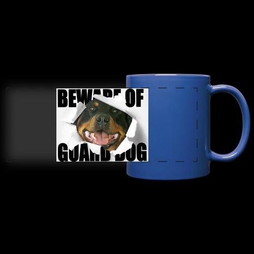 beware of guard dog - Full Colour Panoramic Mug