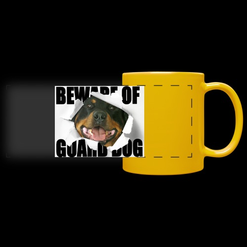 beware of guard dog - Full Color Panoramic Mug