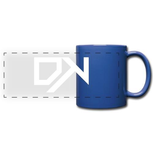 DewKee Logo Cap White - Full Color Panoramic Mug