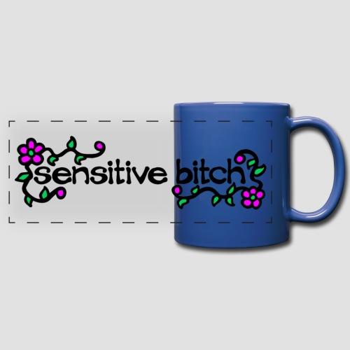 Sensitive Bitch (black) - Full Colour Panoramic Mug