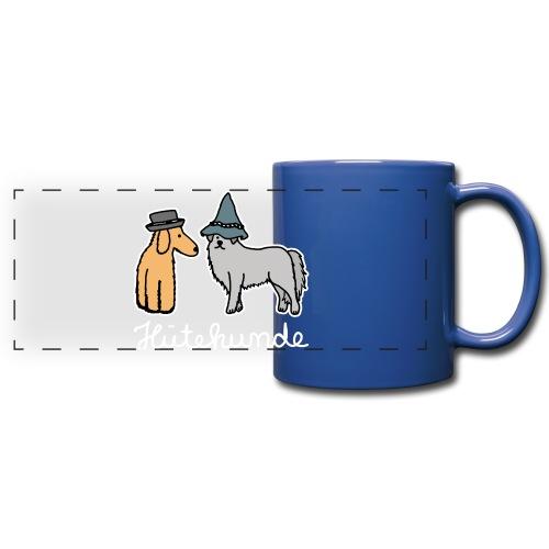 Hütehunde Hunde mit Hut Huetehund - Panoramatasse farbig
