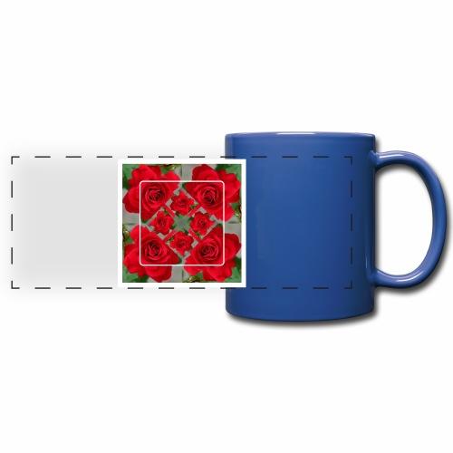 Rose Design - Panoramatasse farbig